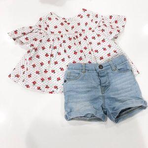 Babydoll top and shorts set